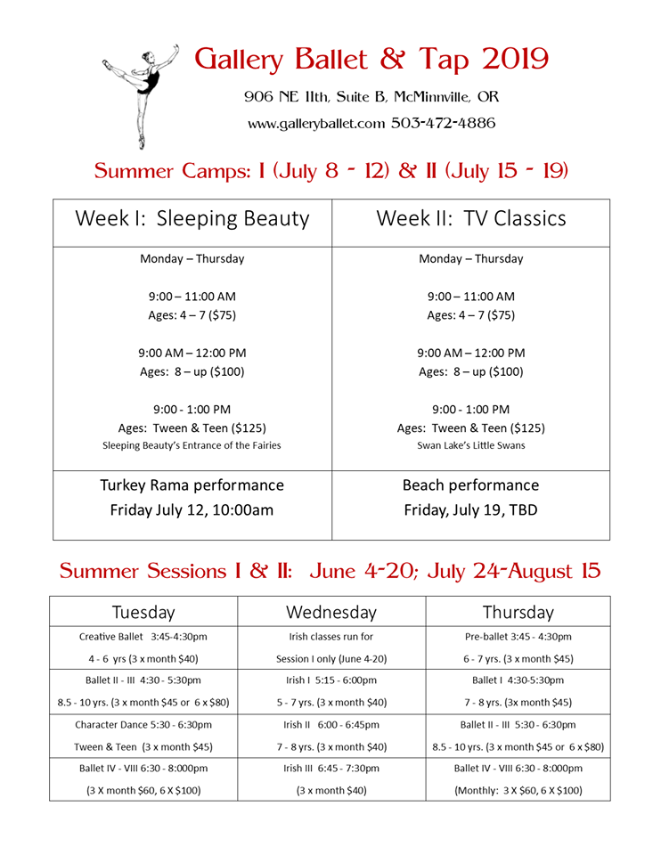 Enrolling Now For Summer Camps and Classes